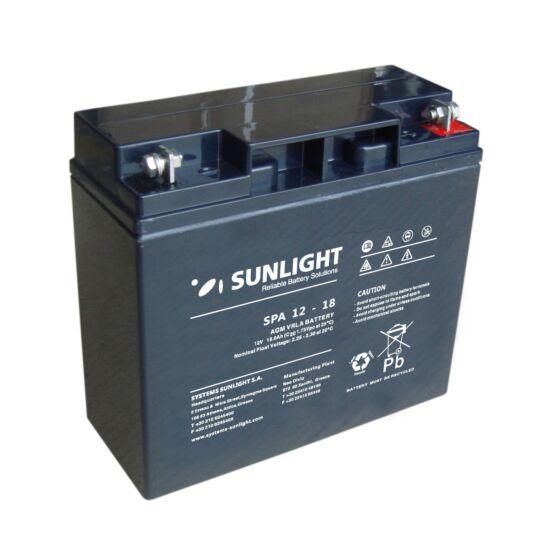 Sunlight Akkumulátor 12V/18 Ah zárt, gondozásmentes