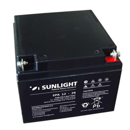 Sunlight Akkumulátor 12V/26 Ah zárt, gondozásmentes